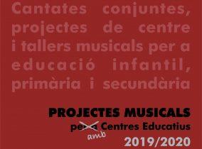 Inscripció oberta als Projectes Educatius 2019/2020