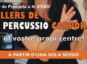 PERCUSSIÓ CORPORAL A PARTIR D'UNA SOLA SESSIÓ AL VOSTRE CENTRE!