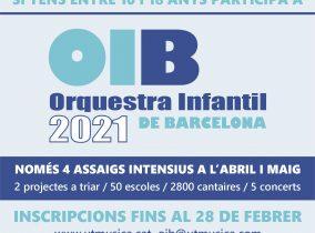 NOU CALENDARI REDUÏT DE L'ORQUESTRA INFANTIL DE BARCELONA 2021