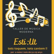 A L'ESTIU, TALLERS DE MÚSICA MODERNA DE 9 A 15 ANYS!
